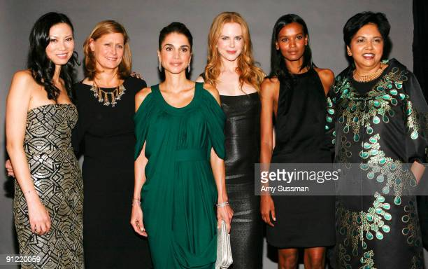 Wendi Murdoch Sarah Brown HM Queen Rania Al Abdullah actress Nicole Kidman model Liya Kebede and chairman and CEO of PepsiCo Indra Nooyi attend the...