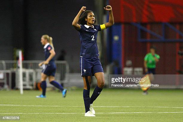 Wendie Renard of France celebrates their second goal against Korea during the FIFA Women's World Cup Canada 2015 round of 16 match between France and...