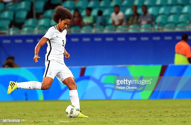 Wendie Renard of France in action match between New Zealand and France at Arena Fonte Nova on August 9 2016 in Salvador Brazil