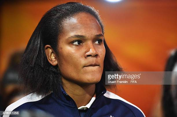 Wendie Renard of France in the players tunnel during the FIFA Womens's World Cup round of 16 match between France and Korea at Olympic Stadium on...