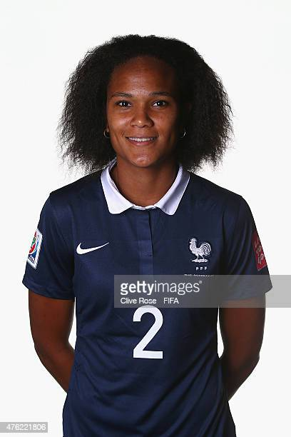 Wendie Renard of France poses during a FIFA Women's World Cup portrait session on June 6 2015 in Moncton Canada