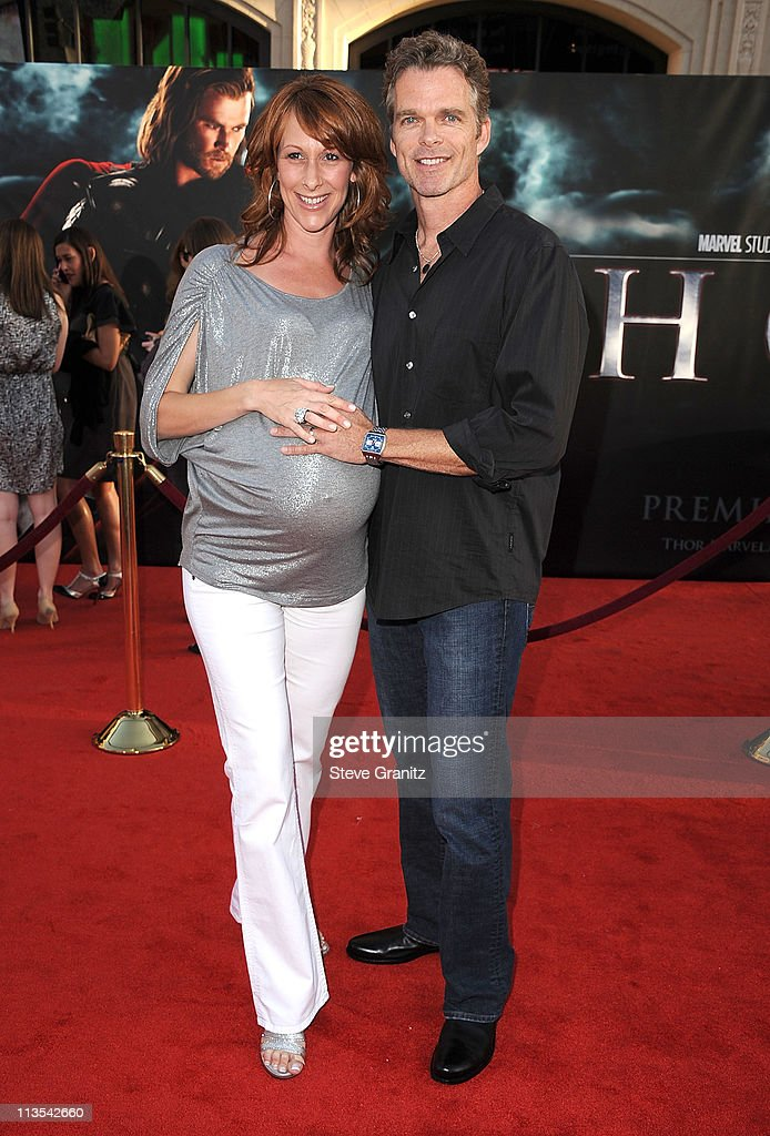 Wendy Braun and Joshua Cox attends the 'Thor' Los Angeles Premiere at the El Capitan Theatre on May 2, 2011 in Hollywood, California.