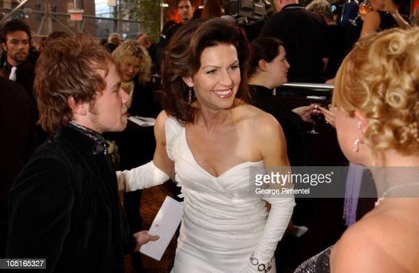 Wendy Crewson and Brenden Fletcher during 2003 18th Annual Gemini Awards Pre Party at Metro Toronto Convention Centre in Toronto Ontario Canada