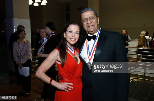 Wendy Diamond and the recipient of international award Global Partnerships Forum Amir A Dossal FCA attends 2017 Ellis Island Medals of Honor Ceremony...