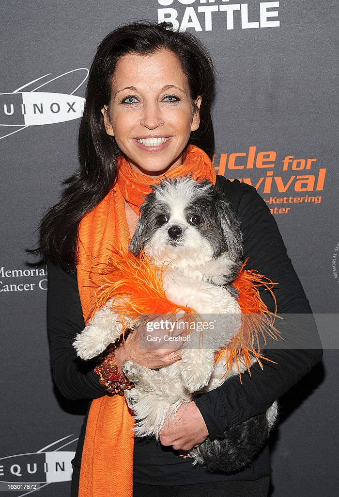 Wendy Diamond holding Baby Hope attends the 2013 Cycle For Survival Benefit at Equinox Rock Center on March 3, 2013 in New York City.