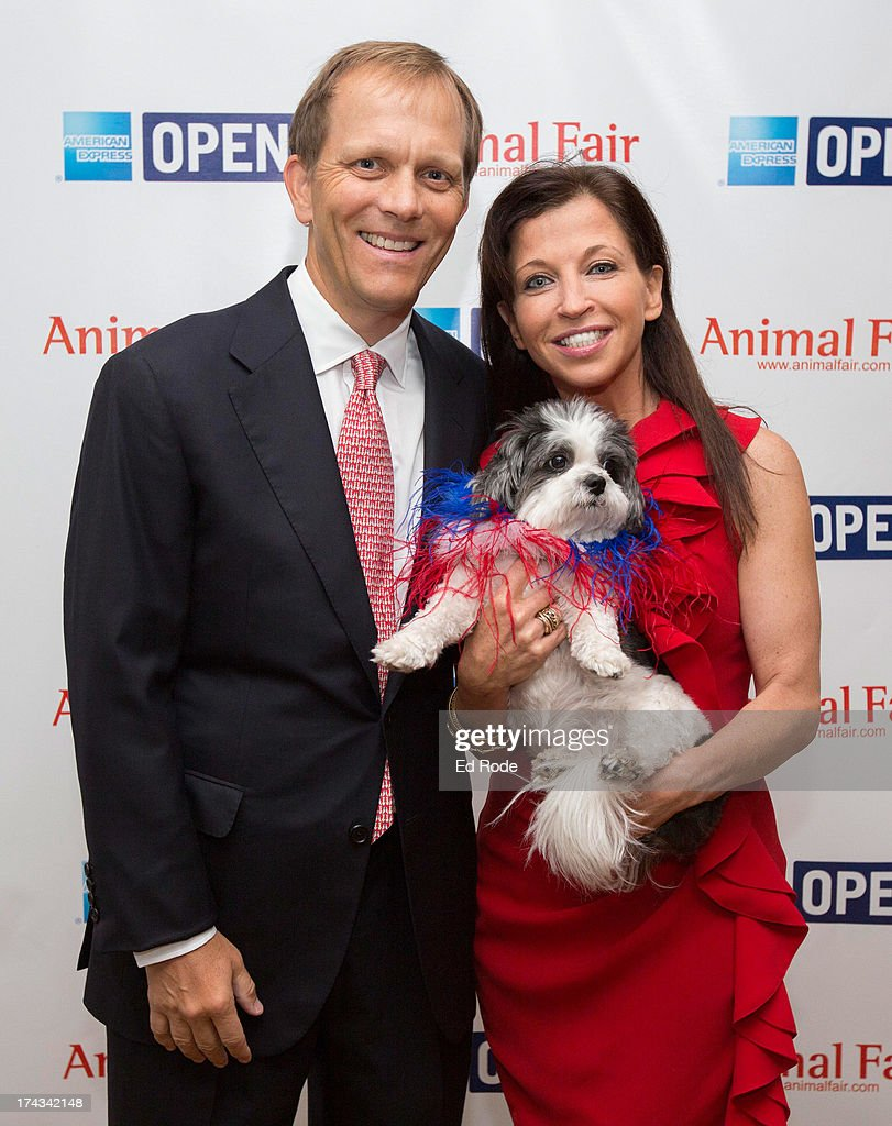 Wendy Diamond, John Ingram and Baby Hope attend AnimalFair.com Bark Breakfast Benefiting K9s For Warriors at the Loews Vanderbilt Hotel on July 24, 2013 in Nashville, Tennessee.
