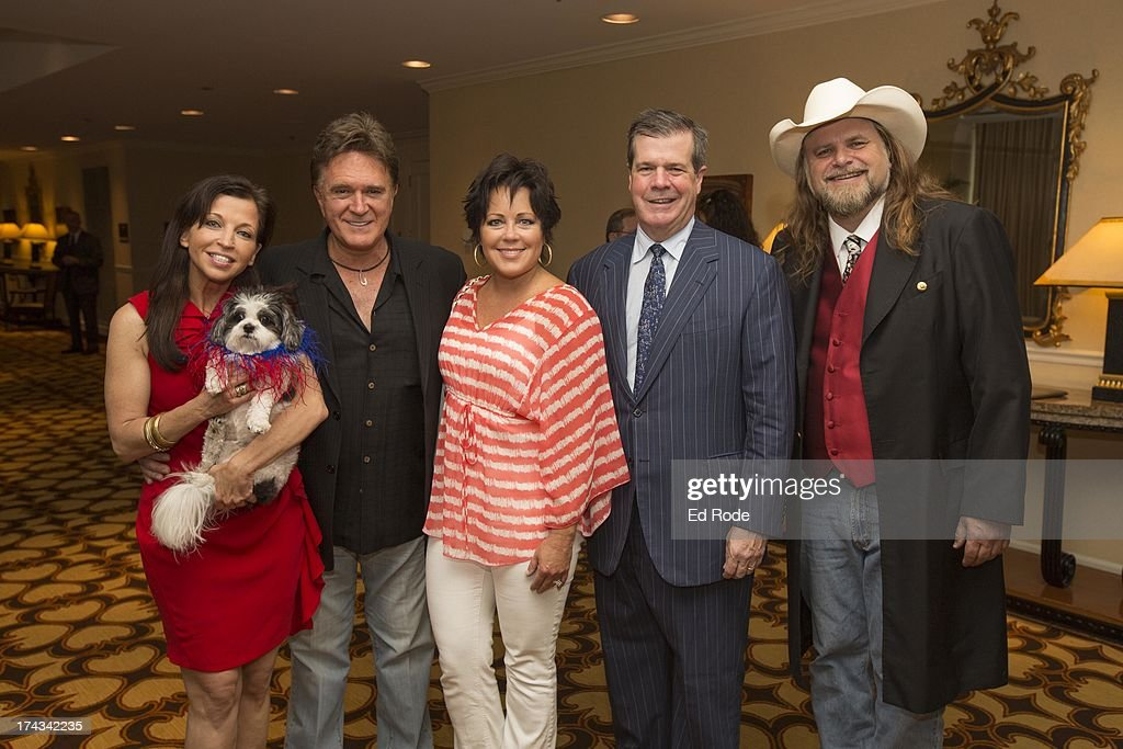 Wendy Diamond, T.G. Shephard, Kelly Lang, Karl Dean and Guy Gilchrist attends AnimalFair.com Bark Breakfast Benefiting K9s For Warriors at the Loews Vanderbilt Hotel on July 24, 2013 in Nashville, Tennessee.