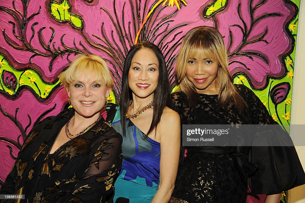 Wendy Federman, Lucia Hwong Gordon and <a gi-track='captionPersonalityLinkClicked' href=/galleries/search?phrase=Tia+Walker&family=editorial&specificpeople=606164 ng-click='$event.stopPropagation()'>Tia Walker</a> attend the Same Sky Holiday Benefit Reception at Ana Tzarev Gallery on December 14, 2012 in New York City.