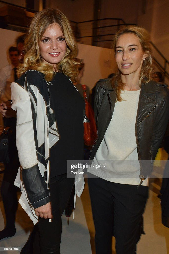 Wendy Hadida and <a gi-track='captionPersonalityLinkClicked' href=/galleries/search?phrase=Alexandra+Golovanoff&family=editorial&specificpeople=4119816 ng-click='$event.stopPropagation()'>Alexandra Golovanoff</a> attend 'La Braderie de L' Eclaireur 2012' in Benefit of Rose Association Against Cancer at Galerie Diana Marquardt on November 19, 2012 in Paris, France.