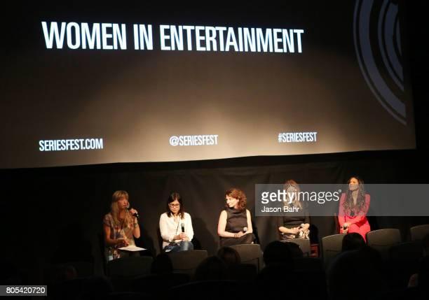 Wendy Haines Geneva Wasserman Michele Ganeless Jamie Jackson and Merle Dandridge speak during the Women In Entertainment panel discussion for...