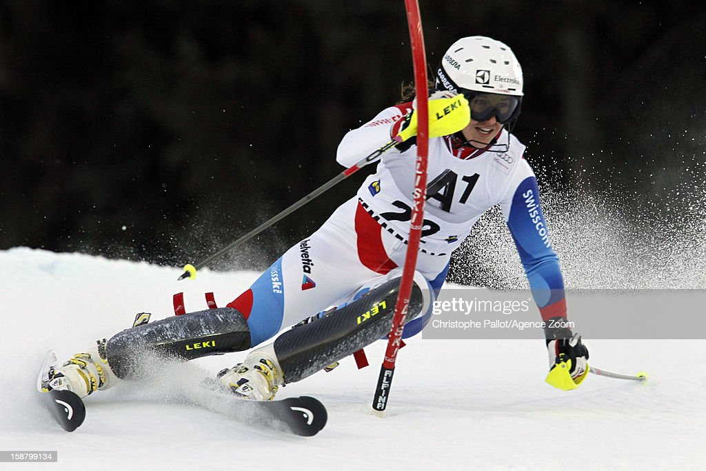 Wendy Holdener of Switzerland competes during the Audi FIS Alpine Ski World Cup Women's Slalom on December 29, 2012 in Semmering, Austria.