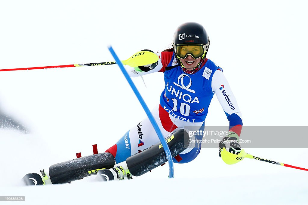 <a gi-track='captionPersonalityLinkClicked' href=/galleries/search?phrase=Wendy+Holdener&family=editorial&specificpeople=7471001 ng-click='$event.stopPropagation()'>Wendy Holdener</a> of Switzerland competes during the Audi FIS Alpine Ski World Cup Women's Slalom on December 29, 2014 in Kuehtai in Tirol, Austria.