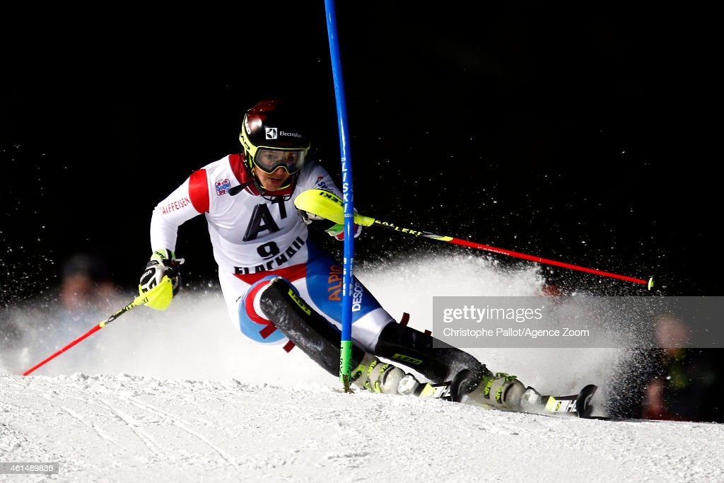 <a gi-track='captionPersonalityLinkClicked' href=/galleries/search?phrase=Wendy+Holdener&family=editorial&specificpeople=7471001 ng-click='$event.stopPropagation()'>Wendy Holdener</a> of Switzerland competes during the Audi FIS Alpine Ski World Cup Women's Slalom on January 13, 2015 in Flachau, Austria.