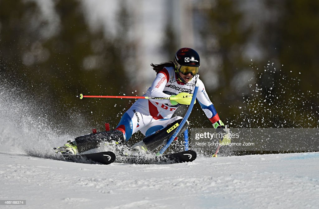 <a gi-track='captionPersonalityLinkClicked' href=/galleries/search?phrase=Wendy+Holdener&family=editorial&specificpeople=7471001 ng-click='$event.stopPropagation()'>Wendy Holdener</a> of Switzerland competes during the Audi FIS Alpine Ski World Cup Women's Slalom on March 14, 2015 in Are, Sweden.