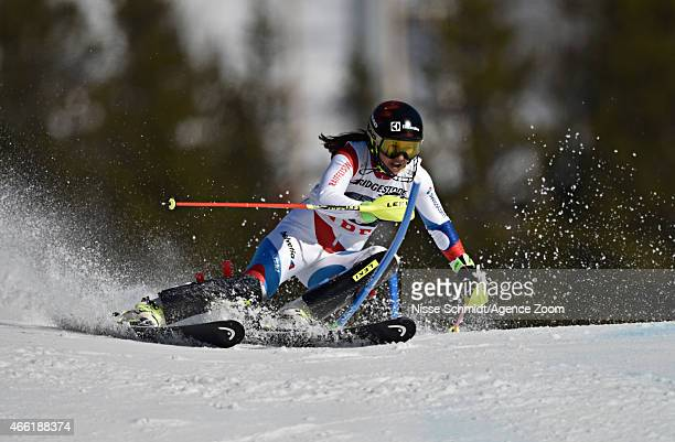 Wendy Holdener of Switzerland competes during the Audi FIS Alpine Ski World Cup Women's Slalom on March 14 2015 in Are Sweden