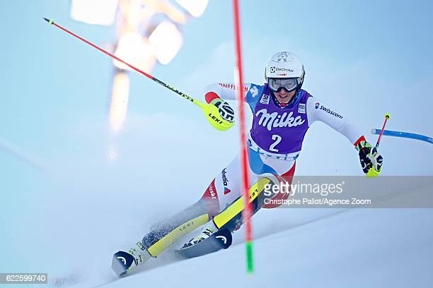 Wendy Holdener of Switzerland competes during the Audi FIS Alpine Ski World Cup Women's Slalom on November 12 2016 in Levi Finland