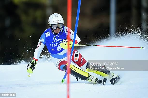 Wendy Holdener of Switzerland competes during the Audi FIS Alpine Ski World Cup Women's Slalom on December 29 2016 in Semmering Austria
