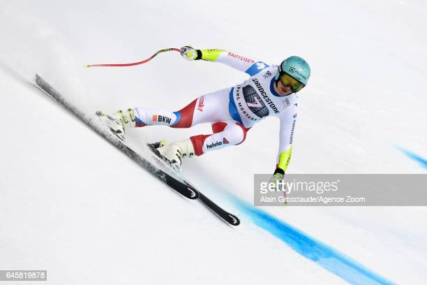 Wendy Holdener of Switzerland competes during the Audi FIS Alpine Ski World Cup Women's Alpine Combined on February 26 2017 in Crans Montana...