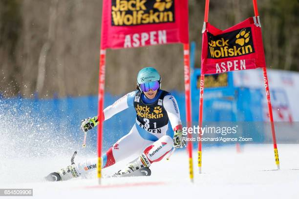 Wendy Holdener of Switzerland competes during the Audi FIS Alpine Ski World Cup Finals Nation Team Event on March 17 2017 in Aspen Colorado