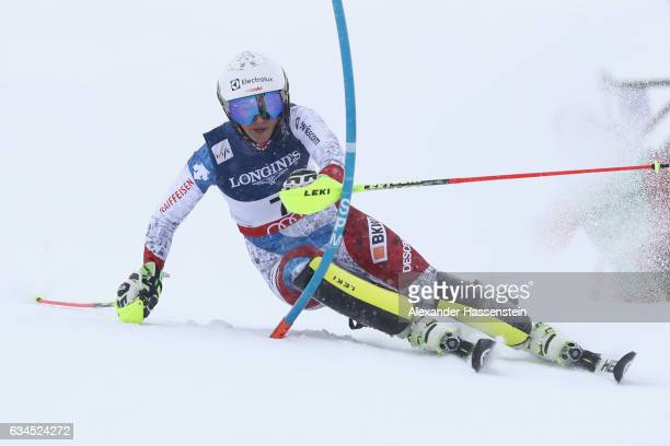 Wendy Holdener of Switzerland competes during the Women's Combined Slalom during the FIS Alpine World Ski Championships on February 10 2017 in St...