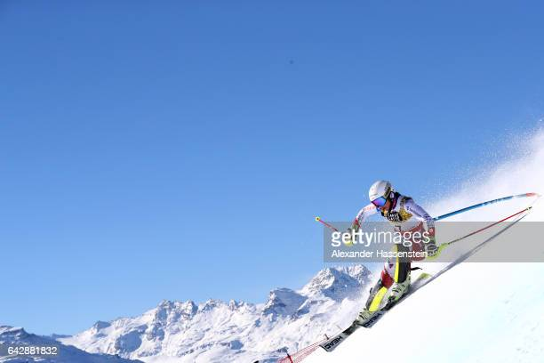 Wendy Holdener of Switzerland competes in the first run of the Women's Slalom during the FIS Alpine World Ski Championships on February 18 2017 in St...