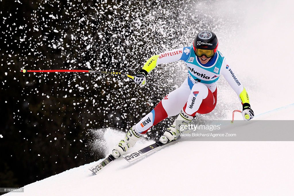 <a gi-track='captionPersonalityLinkClicked' href=/galleries/search?phrase=Wendy+Holdener&family=editorial&specificpeople=7471001 ng-click='$event.stopPropagation()'>Wendy Holdener</a> of Switzerland takes 1st place during the Audi FIS Alpine Ski World Cup Women's Super Combined on March 13, 2016 in Lenzerheide, Switzerland.