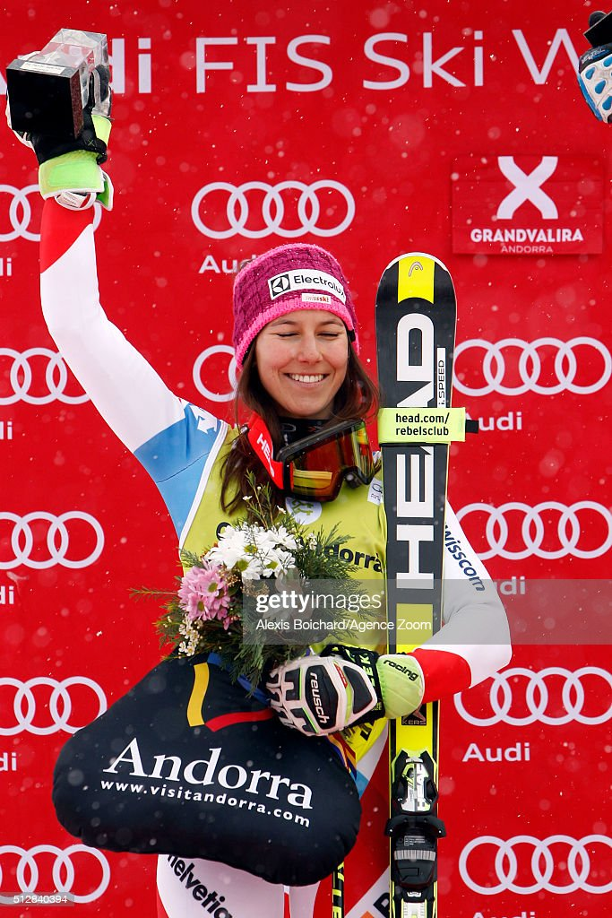 <a gi-track='captionPersonalityLinkClicked' href=/galleries/search?phrase=Wendy+Holdener&family=editorial&specificpeople=7471001 ng-click='$event.stopPropagation()'>Wendy Holdener</a> of Switzerland takes 2nd place during the Audi FIS Alpine Ski World Cup Women's Super Combined on February 28, 2016 in Soldeu, Andorra.