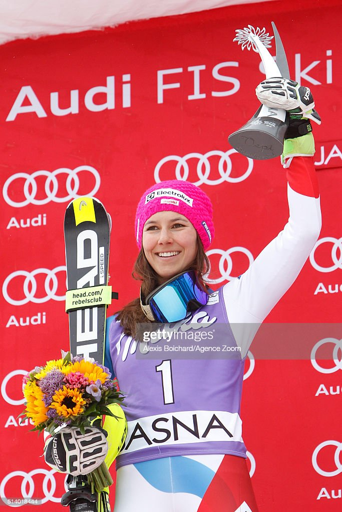 <a gi-track='captionPersonalityLinkClicked' href=/galleries/search?phrase=Wendy+Holdener&family=editorial&specificpeople=7471001 ng-click='$event.stopPropagation()'>Wendy Holdener</a> of Switzerland takes 2nd place during the Audi FIS Alpine Ski World Cup Women's Slalom on March 06, 2016 in Jasna, Slovakia.