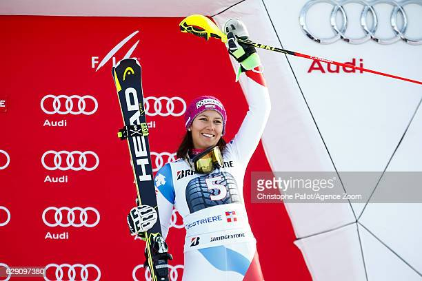 Wendy Holdener of Switzerland takes 3rd place during the Audi FIS Alpine Ski World Cup Women's Slalom on December 11 2016 in Sestriere Italy
