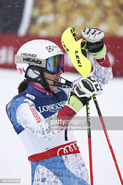 Wendy Holdener of Switzerland wins the gold medal during the FIS Alpine Ski World Championships Women's Alpine Combined on February 10 2017 in St...