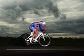 Wendy Houvenaghel of Great Britain in action in the Elite Women's Individual Time Trial on day three of the UCI Road World Championships on September...