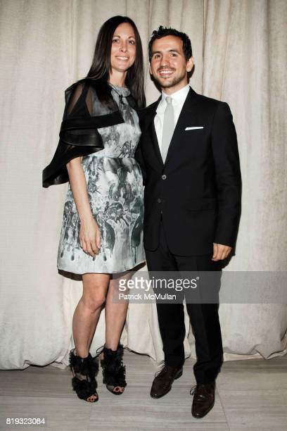 Wendy Kahn and Giovanni Cafiso attend SAKS FIFTH AVENUE VALENTINO Host a Dinner to benefit SAVE VENICE at Saks Fifth Avenue on April 14 2010 in New...