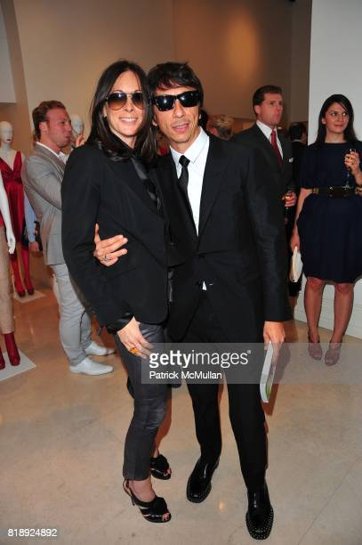 Wendy Kahn and Pier Paolo Piccioli attend VALENTINO hosts Carlos Mota book launch 'Flowers Chic and Cheap' at Valentino on May 4 2010 in New York City