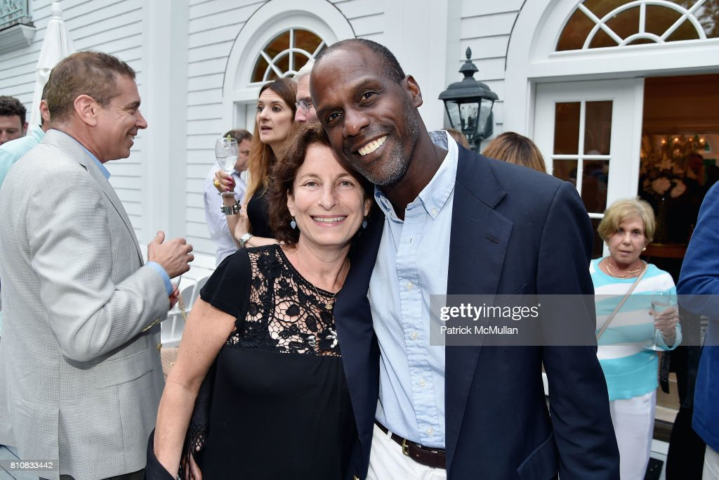 Wendy Lafontant and Roland Lafatant attend Katrina and Don Peebles Host NY Mission Society Summer Cocktails at Private Residence on July 7, 2017 in Bridgehampton, New York.