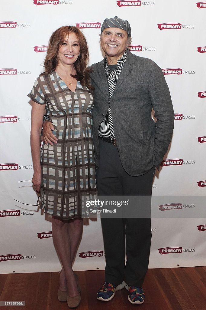 Wendy Makkena and Joe Panotliano attend the cast meet and greet for the upcoming Off-Broadway production 'Bronx Bombers' at Playwrights Horizons Rehearsal Studios on August 21, 2013 in New York City.