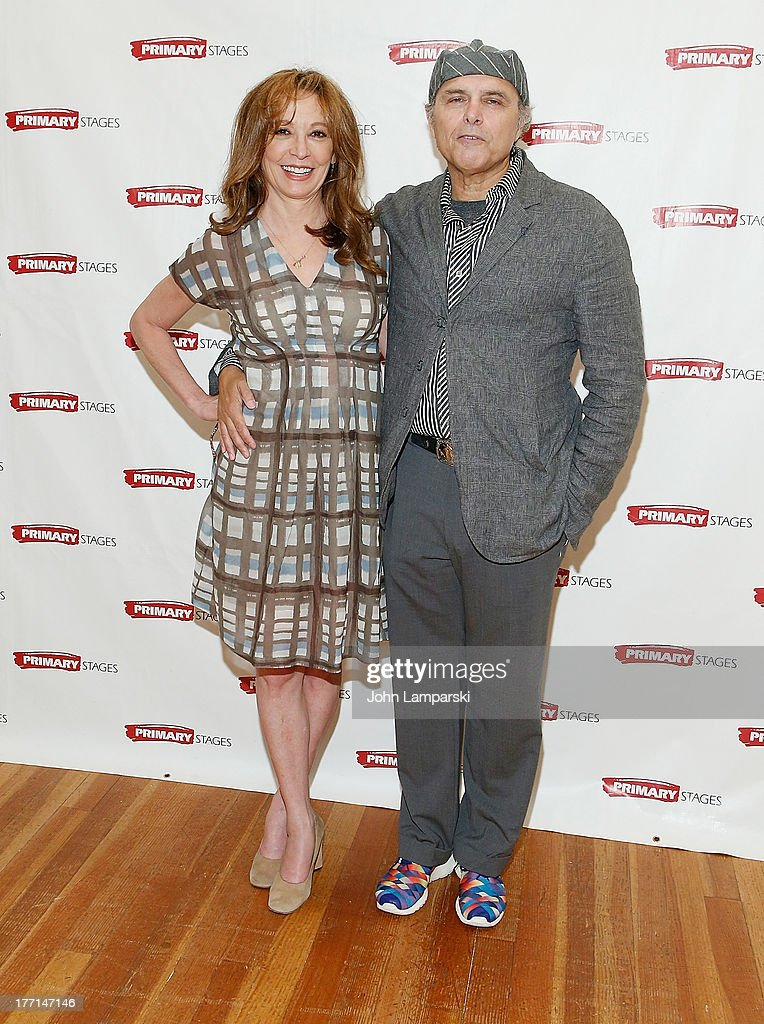 Wendy Makkena and Joe Pantoliano attends the cast meet and greet for the upcoming Off-Broadway production 'Bronx Bombers' at Playwrights Horizons Rehearsal Studios on August 21, 2013 in New York City.