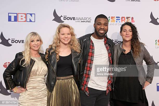 Wendy Miller Heidi Mays Henry Newby and Laurel Taylor of The Cantina's Foundatoin arrive at the 2016 Dove Awards at Allen Arena Lipscomb University...