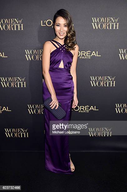 Wendy Nguyen attends the L'Oreal Paris Women of Worth Celebration 2016 Arrivals on November 16 2016 in New York City