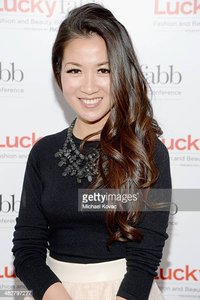 Wendy Nguyen of Wendy's Lookbook attends Lucky FABB Fashion and Beauty Blog Conference presented by PG Day 1 at SLS Hotel on April 4 2014 in Beverly...