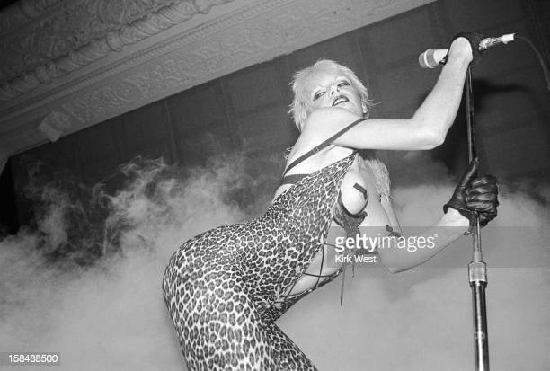 Wendy O Williams of the Plasmatics performs at Stages Chicago Illinois September 21 1980