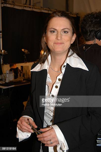 Wendy Pepper attends Project Runway Fashion Show at The Plaza Tent at Bryant Park on February 4 2005 in New York City