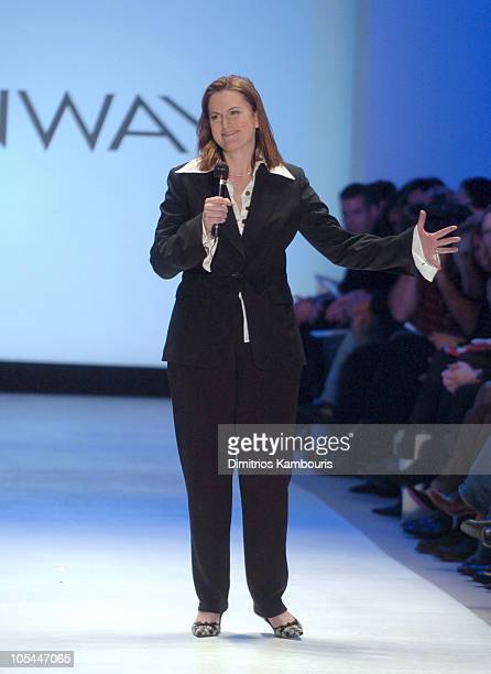 Wendy Pepper designer during Olympus Fashion Week Fall 2005 Wendy Pepper for 'Project Runway' Runway at The Plaza Bryant Park in New York City New...