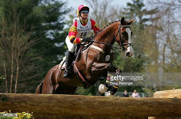 Wendy Schaeffer from Hahndorf Australia atop Koyuna Sun Magic competes in the Cross Country Phase of the 2007 Rolex Kentucky ThreeDay Event at the...