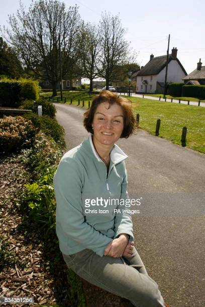 Wendy Sharp of the Holdenhurst Village Action Group outside her home in the quiet Dorset village of Holdenhurst near Bournemouth where residents have...