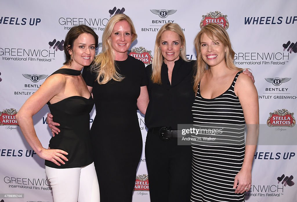 Wendy Stapleton Reyes, Colleen deVeer, Ginger Stickel and Carina Crain attend Greenwich Film Festival 2015 - Sports Guys On Sports Movies After Party at Miller Motorcars on June 4, 2015 in Greenwich, Connecticut.