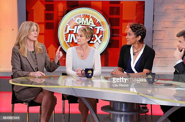 AMERICA Wendy Walsh and TJ Holmes appear on 'Good Morning America' 2/26/15 airing on the ABC Television Network