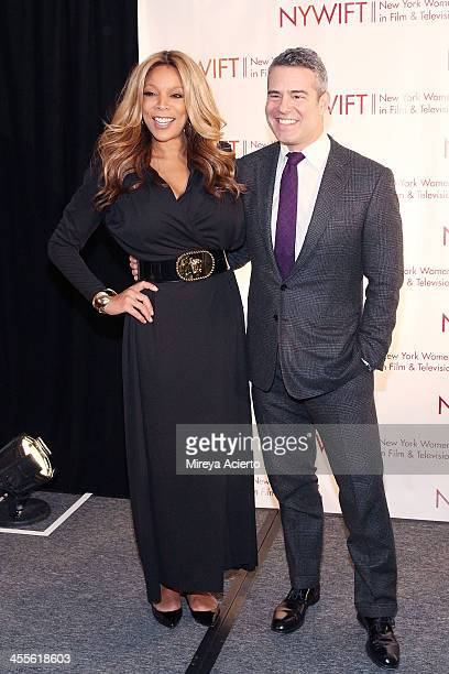 Wendy Williams and Andy Cohen attend New York Women In Film And Television's 33rd Annual Muse Awards at New York Hilton on December 12 2013 in New...