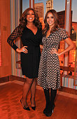 Wendy Williams and Jessica Alba pose at the 'The Wendy Williams Show' at The Wendy Williams Show Studio on January 30 2012 in New York City