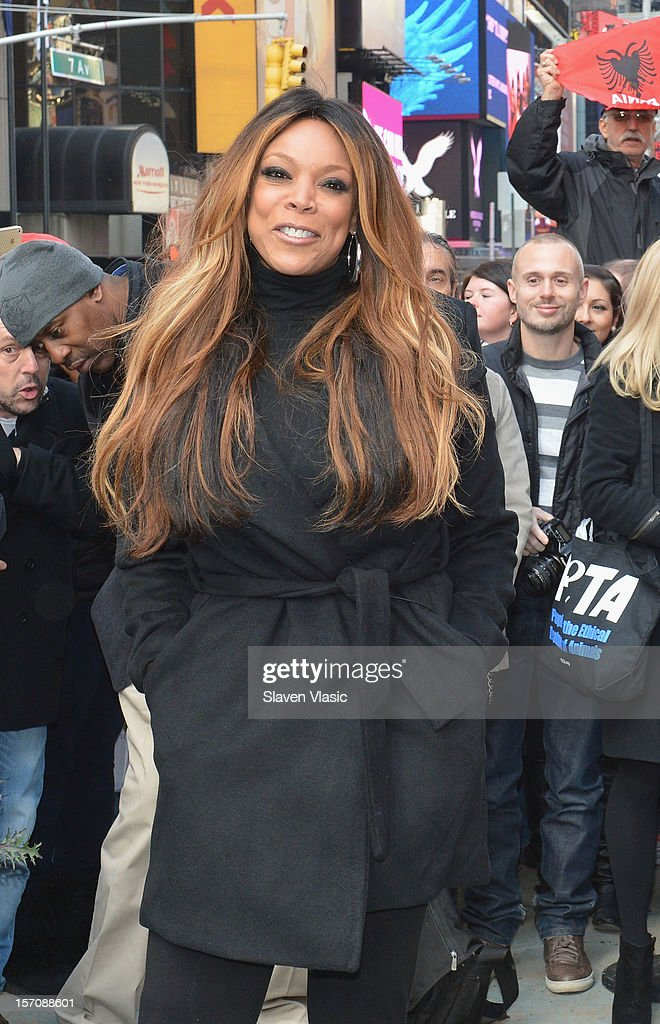 Wendy Williams attends Wendy Williams 'I'd Rather Go Naked Than Wear Fur' Winter PETA Campaign Launch at Times Square on November 28, 2012 in New York City.
