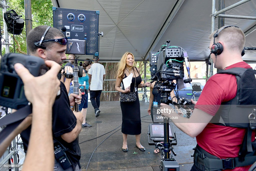 Wendy Williams during Pitbull's New Year's Revolution rehearsal at Bayfront Park Amphitheater on December 30 2015 in Miami Florida